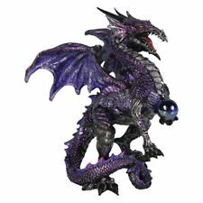Purple Dragon Protector, mythical fantasy statue ornament by Nemesis Now AL50263
