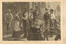 On South Street, New York, Longshoremen Waiting For A Job, Labor, 1881 Print
