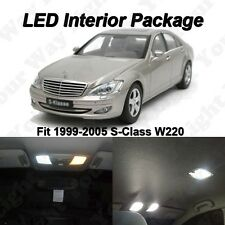 19 x Xenon White SMD LED Lights Interior Package For Mercedes Benz S-CLASS W220