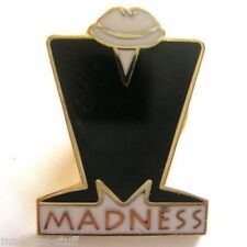 MADNESS 'M' LOGO ENAMEL LAPEL BADGE - MINT CONDITION - SUGGS TWO TONE STIFF SKA