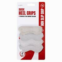 4 Pack Suede Heel Grips One Size Fits All Shoe Care Comfort Long Walk Stiletto