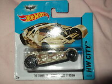 "HOT WHEELS 2014 BATMAN ""THE TUMBLER"" CAMOUFLAGE  VERSION SEALED SHORT CARD"