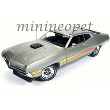 AUTOWORLD AMM1074 AMERICAN MUSCLE 1971 FORD TORINO GT 1/18 LIGHT GREEN METALLIC