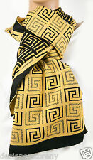 """Versace 50% Wool/50% Polyester Yellow Scarf 12 x 70""""  Style #SCB1NLA8995  0007"""
