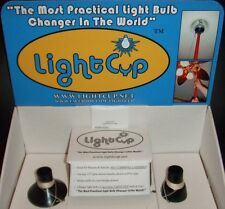 NEW IB & OFFICIAL LightCup (2) Piece Easy Light Bulb Changer Suction Cup Kit +++