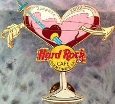 Hard Rock Cafe JAKARTA 2003 Valentine's Day PIN Martini Glass with Arrow #17055
