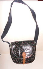 NAJ OLEARI 80s italy beautiful bag black with butterfly - borsa tracolla nuova
