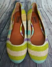Missoni Ballet Flats Shoes MADE IN ITALY Leather 38.5