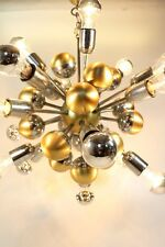 Lampadario SPUTNIK 70's Deckenlampe/Chrom Kugeln/Ceiling Lamp light/15 Lights