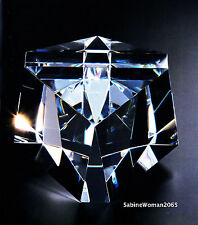 LARGE NEW in BOX STEUBEN glass CUBIQUE CUBE ornamental paperweight PRISM galaxy