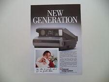 advertising Pubblicità 1987 POLAROID IMAGE SYSTEM