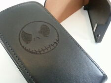 Apple iPhone 5 JACK SKELLINGTON black flip phone case cover five skull bones
