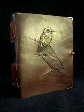 Handmade Leather BIRDWATCHER'S Journal Diary - COLIBRI BIRDS design