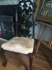 Quality Piece CHAIR 18th CENTURY  HIGH BACK Gothic  WITH PANEL INLAID claw feet