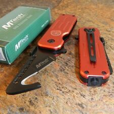 MTech FIRE FIGHTER RESCUE KNIFE GUT HOOK BLADE with GLASS BREAKER NEW