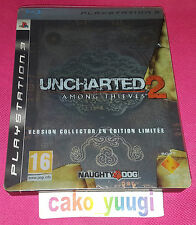 UNCHARTED 2 AMONG THIEVES STEELBOOK EDITION SONY PS3 PARFAIT ETAT 100% FRANCAIS