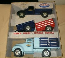 super rare vintage 1957 Tonka truck and trailer rental box set b - 204