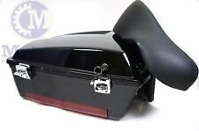 Vivid Black Chopped Tour Pak Trunk Pack for HD Harley Davidson touring models