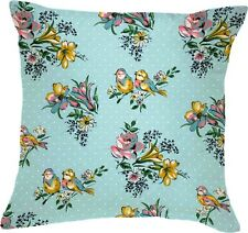 Katie Alice Bird Song grandi SHABBY CHIC CUSCINO BLU