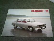 July 1974 / 1975 RENAULT 12 L TL TS TR AUTO SALOON & TN ESTATE - UK BROCHURE