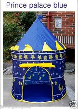 Folding Blue Prince Castle Kids Play Tent Outdoor and Indoor Cubby House