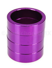 "Bicycle BMX or MTB headset spacers for 1 1/8"" threadless (SET of 4) 10mm PURPLE"