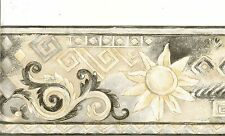 SOUTHWEST STYLE SUN AND MOON, BLACK,WHITE,GRAY,GOLD  WALLPAPER BORDER