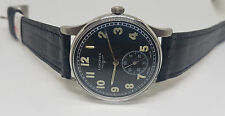 RARE VINTAGE LONGINES SUB SECOND BLACK DIAL MANUAL WIND MAN'S WATCH
