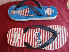 Havaianas Theme Where's Wally? Kids Rubber Blue/Red 6W Flip Flop Sandal