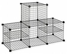 Grid Wire Modular Shelving And Storage Cubes Extra Strong and Durable Heavy