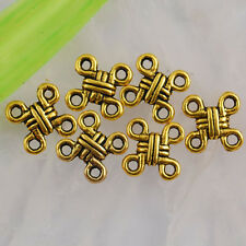 Nd2011 22pcs Dark gold color 2sided knot connector