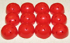 LEGO LOT OF 12 NEW RED HELMETS WITH VENT HOLES SPORTS BIKE HELMETS PIECES