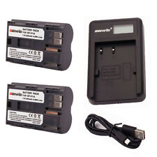 2pcs 2000mAh BP-511A Battery for Canon EOS-300D /30D /40D /50D + USB Charger