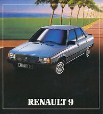 Renault 9 Prospekt 21.117.08 brochure Auto PKWs Frankreich Europa Broschüre
