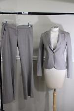 THEORY women's beige pinstriped pants suit size 4 (su300