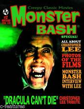 MONSTER BASH SPECIAL #2: Christopher Lee Tribute DRACULA Frankenstein MAGAZINE