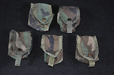 LOT OF 5  WOODLAND BDU CAMOUFLAGE GRENADE POUCHES - MOLLE II - ISSUED