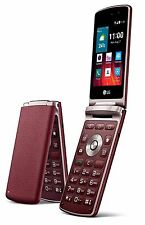 "New Unlocked LG Wine Smart 2 H410 1G/4G 4GLTE 3.2"" Flip Phone - Red- Fedex Ship"