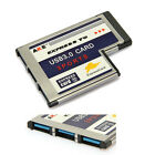54mm Express Card ExpressCard to 3 Port USB 3.0 Adapter for Laptop FL1100 Chip