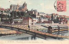 LE MANS 4 LL vue générale prise du quai ledru-rollin timbrée 1907