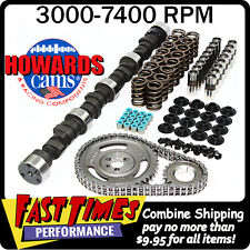 "HOWARD'S SBC Small Block Chevy Solid Flat Tappet 291/299 535""/555"" 105° Cam Kit"