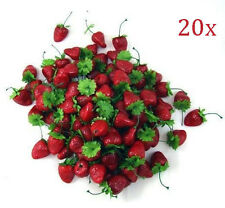 20x Artificial Mini Foam Fake Strawberry Fruit House Party kitchen Decor