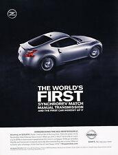 2010 Nissan 370Z Original Advertisement Car Print Ad J361