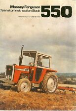 Massey Ferguson MF 550 Tractor Operators Instruction Manual (0015)