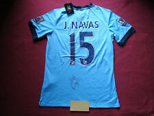 MANCHESTER CITY JESUS NAVAS HAND SIGNED 2014-15 SHIRT- BNWT- LARGE - PHOTO PROOF