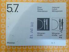 5.7. Voucher Ticket  OTL AICHER HFG ULM OLYMPISCHE SPIELE 1972 MÜNCHEN MUNICH