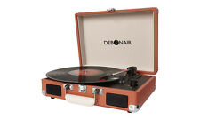 Retro Turntable Case Briefcase Suitcase Style Vinyl Record Player with AUX