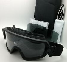 New SMITH OPTICS OUTSIDE THE WIRE Goggles Field Kit Black w/ Clear & Grey lenses