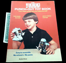 VINTAGE ROBOTS ROBO FORCE PUNCH OUT TOY BOOK MAXX STEELE HUN-DRED BLAZER COPTOR