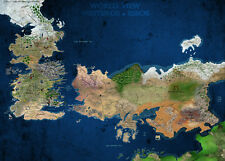 A3 Game Of Thrones World View Westeros & Essos Map POSTER GOTW01 BUY 2 GET 1FREE